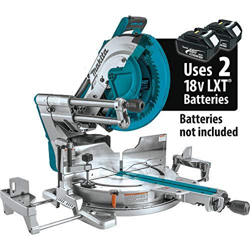 Makita XSL08Z 18V x2 LXT Lithium-Ion 36V Brushless Cordless 12 Dual-Bevel Sliding Compound Miter Saw AWS Capable Laser Tool Only