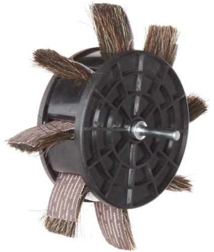 Merit 350-RP Sand-O-Flex Abrasive Wheel Round Shank Aluminum Oxide 6-12 Diameter x 1 Width Grit 80 Pack of 1
