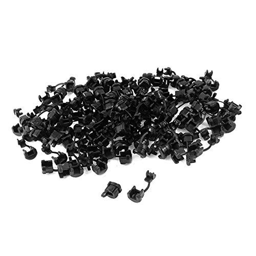 200Pcs Black Nylon Clamp Strain Relief Bushing for 4mm Dia Wire Cord