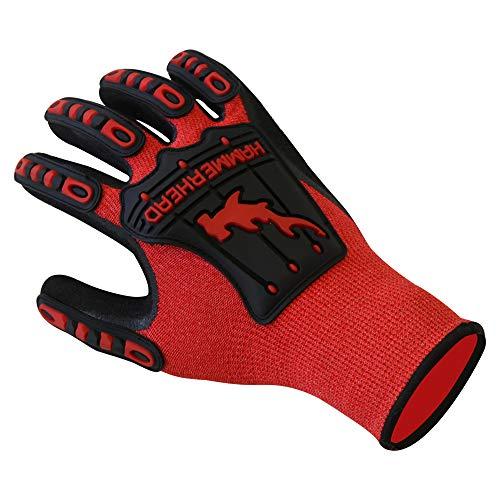 Hammerhead Spearguns Dentex Gloves - Mahi Mahi Ahi Nitrile Grip - Cut Resistant Lv5 and Puncture Resistant Lv3 - Small