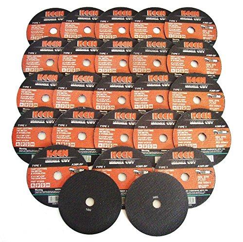 Keen Small Cut Type 1 Cut-Off Wheels - 25 Wheels - 3 x 116 x 38 Inches