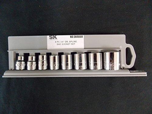 SK Professional Tools Set of 8 Spline SAE Socket Set 12 Point Part 4668
