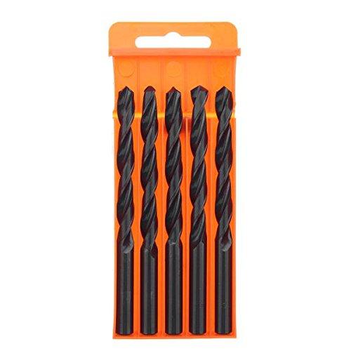 Zebery 5Pcs 9~12mm HSS Straight Shank Metric Twist Drill Bit Set Professional Tool