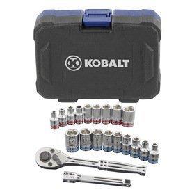 Kobalt 20-Piece StandardMetric Mechanics Tool Set with Case