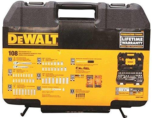New Dewalt Dwmt73801 108 Piece 14 38 Drive Socket Tool Set Case 7515000