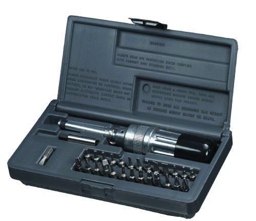 SK Hand Tool SKT0568 Preset Torque Screwdriver Kit 2 to 36-Inch Pound