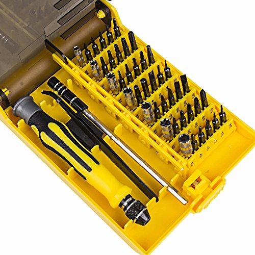 1Voi tweezers 45 in 1 Micro Precision Screwdriver Cell Phone Repair Tools Set Tweezer Kit