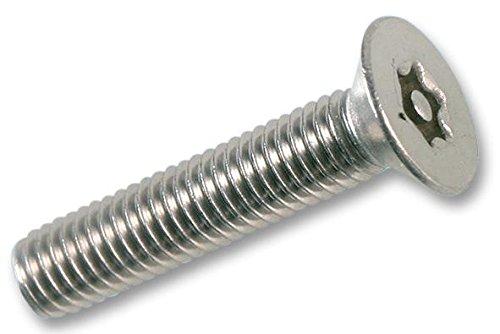 SCREW TP PIN TORX CSK M3X20 Fastener Material Stainless Steel A2 Product Range Duratool - Tamperpr