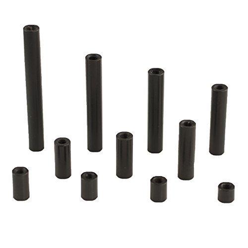 M3 Round Black Aluminum Socket Head Cap Screws - 45mm Thread Length