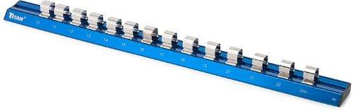 Titan Tools 32098 12 Drive Metric Magnetic Aluminum Socket Rail by Titan Tools