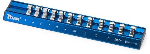 Vaper 36098 14 Drive Metric Magnetic Aluminum Socket Rail
