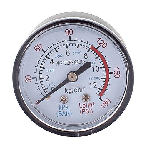 Round 0-180psi 13mm 14BSP Thread Dia Dial Air Pressure Gauge