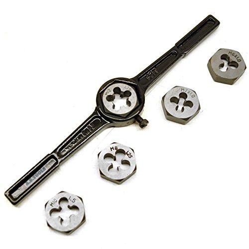 6pc Metric Die Set With Holder  Wrench M6 - M12 Thread Repair Kit TE577