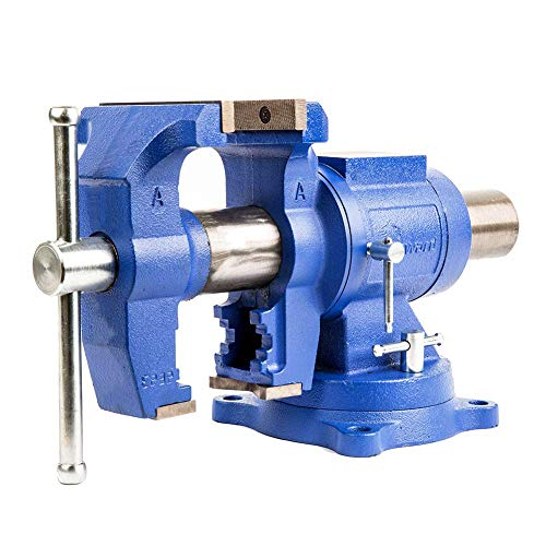 Forward DT08125A 5-Inch Heavy Duty Bench Vise 360-Degree Swivel Base and Head with Anvil 5