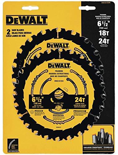 DEWALT DWA1612CMB 6-12-Inch 1824-Tooth Circular Saw Blade Combo 2-Pack