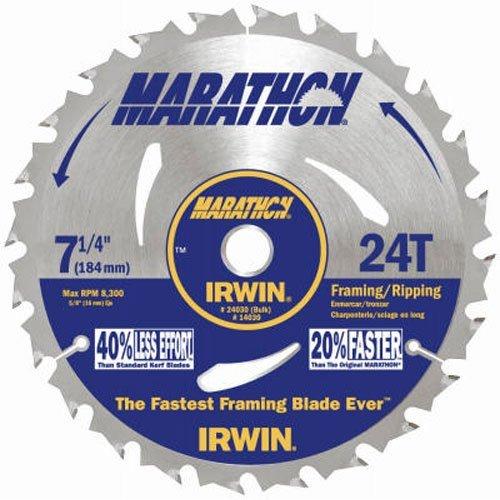 IRWIN Tools MARATHON Carbide Corded Circular Saw Blade 7 14-inch 24T 24030