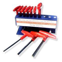 10 Pc T-handle Allen Wrench Set - Metric