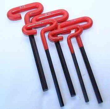 5 Pc Jumbo T-Handle Allen Wrench Set- SAE