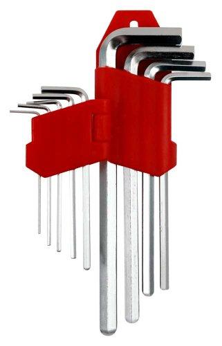 Trademark Tools 75-6109HX Hawk 9-Piece Long Hex Allen Wrench Set