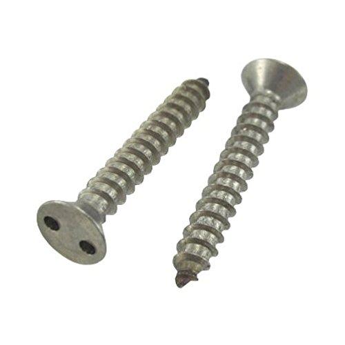 10 X 1 Stainless Steel Flat Head Spanner Sheet Metal Screws Pack of 12
