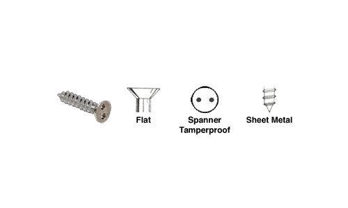 CRL 10 x 1 Flat Head Spanner Tamperproof Type A Sheet Metal Screws Pack of 100 by CR Laurence