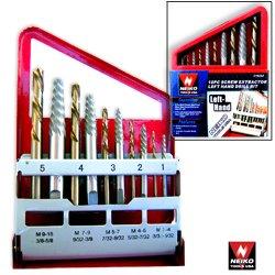 10pc Screw Extractor Cobalt Bit Companion Set Left Hand Drill Bit