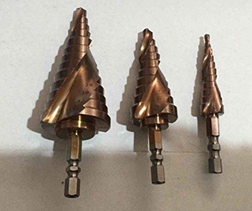 Inton M35 USA Cobalt Coated Step Drill Bit Set 34 Sizes  3-piece Set