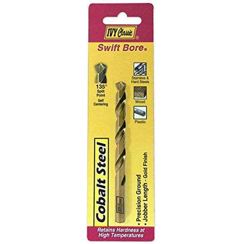 IVY Classic 04109 964-Inch Cobalt Steel Drill Bit 135-Degree Split Point 1Card
