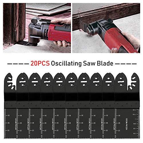 PiggiesC 20 Saw Blade Oscillating Multi Tool Fit Fein Bosch Milwaukee Porter Cable Dewalt