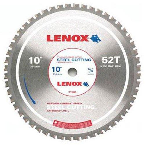 LENOX Tools Circular Saw Blade Steel-Cutting 10-inch 52T 21886ST100052CT