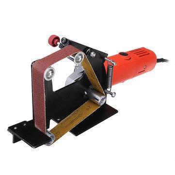 Angle Grinder Belt Sander Attachment Metal Wood Sanding Belt Adapter Use 100 Angle Grinder - Tool Parts Angle Grinder Parts - 1 x Belt Sander Attachment 1 x M10 Adapter 5 x Sanding Belts