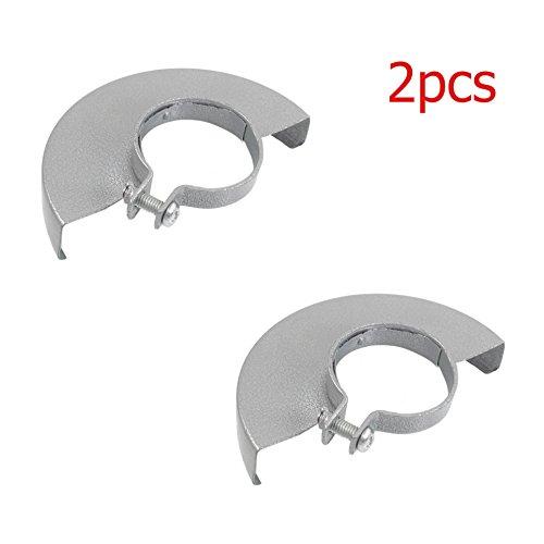 LDEXIN 2pcs Angle Grinder Part Wheel Guard Protector Cover Silver Tone
