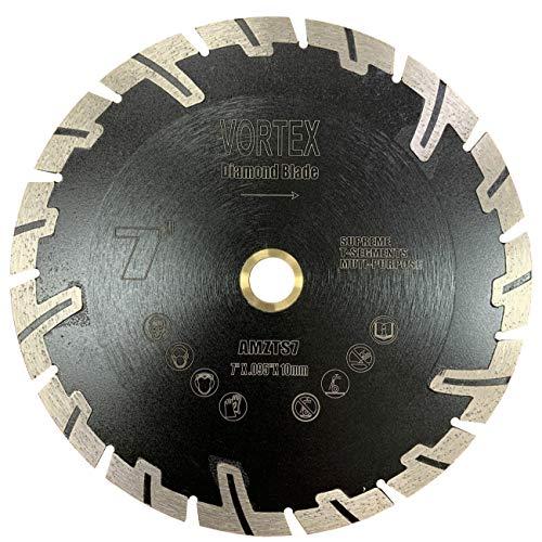 ALSKAR DIAMOND ADLTTS 7 inch Supreme Quality Dry or Wet Cutting Saw T Segmented Diamond Blades for Granite Stone Concrete 7