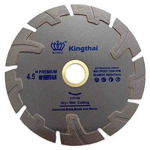 Kingthai 45 Inch T Turbo Segmented Concrete Diamond Saw Blade for Granite Marble with Pro-Teeth Protection