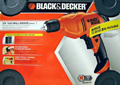 Black Decker 38 VSR Drill Driver 5 Amp DR290TP with BONUS Drill Bit