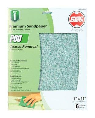 Shopsmith Premium Sandpaper 80 Grit Medium Oxide Aluminum