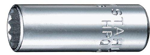 Stahlwille 40ADV-732 Steel Aero Semi-Deep Socket 14 Drive 12 Points 732 Diameter 318mm Length 107mm Width