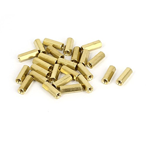 Uxcell a15081800ux0064 Standoff Spacer M3 x 13Mm Female Threaded Brass Hex Standoff Pillar Spacer Nut 25Pcs