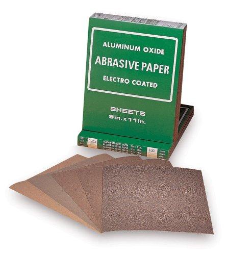 Mercer Abrasives 201040D-50 9-Inch by 11-Inch Aluminum Oxide Paper Sheets 40D Grit 50-Pack