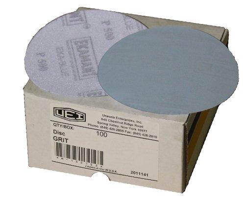 Uneeda Enterprizes Inc M-129438 M-129438 5-Inch x No Hole NH No 120 Grit Ekablue Aluminum Oxide Paper Uneevel Hook and Loop Sanding Discs