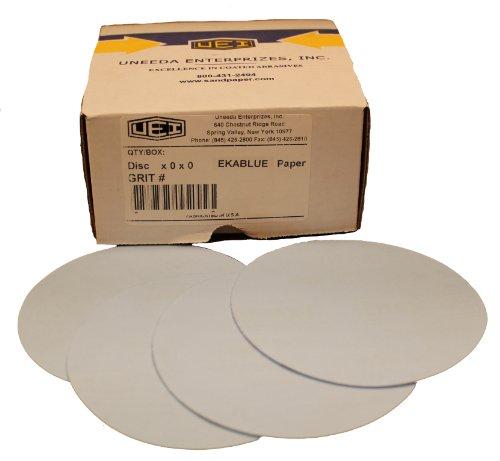 Uneeda Enterprizes Inc M-130024 M-130024 5-Inch x No Hole NH No 80 Grit Ekablue Aluminum Oxide Paper Uneevel Hook and Loop Sanding Discs
