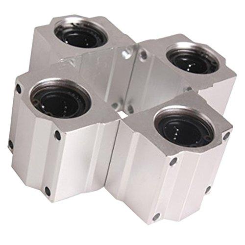 Linear Motion Ball Bearing - TOOGOOR 4 Pcs SC20UU 20mm Aluminum Linear Motion Ball Bearing Slide Bushing for CNC