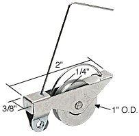 CRL Sliding Screen Door Spring Tension Roller 1 Steel Ball Bearing Wheel - Package