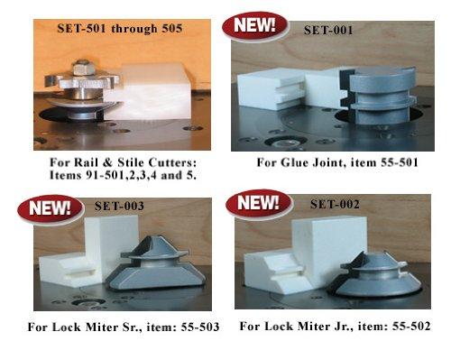 SET-505 Set-Up Blocks For Infinity Tools Shaker Profile Rail Stile Router Bits