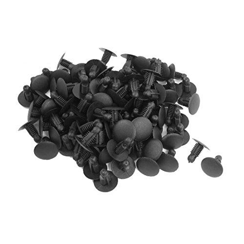 SODIALR 100 Pcs Car Plastic Push in Fastener Rivets Clips Black for 9mmx73mm Hole
