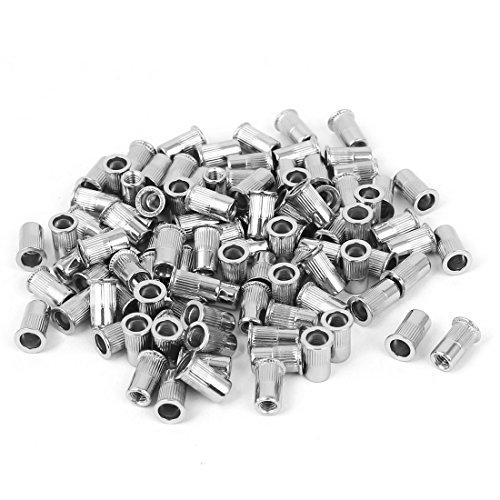 uxcell M3 Stainless Steel Rivet Nut Rivnut Insert Nutsert Silver Tone 100pcs