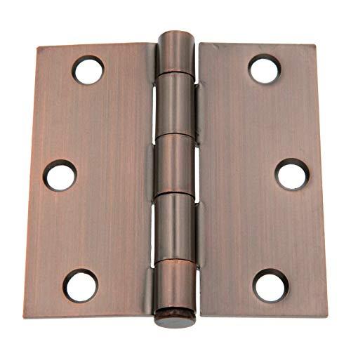 3 Pack Warwick HardwarePs 3 Door Hinges Square Corners Bronze DA3011BZ
