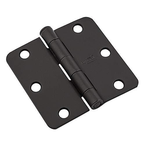 National Hardware N830-430 Door Hinge 3 Inch 14 Radius Black