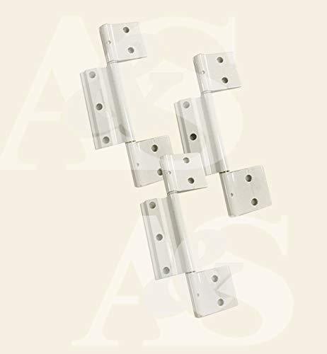 Screen Doors Hinge White - Pack of Three 3 ea