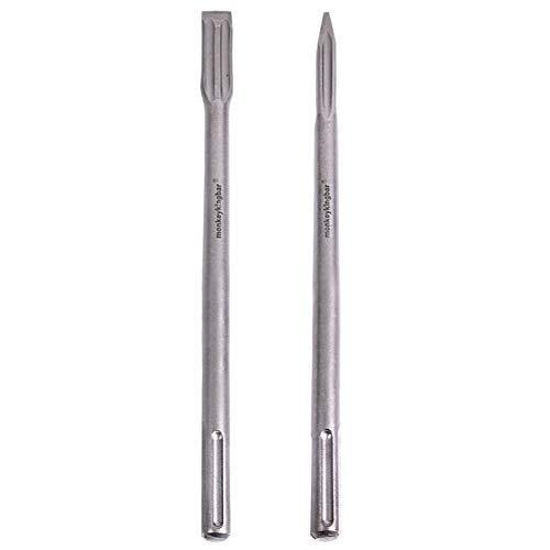 Monkey King Bar-Sds Max bits chisel 16- Sds Chisel Bits for Hammer Drills-self-sharpening chisel- 2pcs Sharpen Flat Chisel Point Chisel